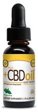 Load image into Gallery viewer, CBD Oil Gold Drops Peppermint 1 Oz by Plus CBD Oil