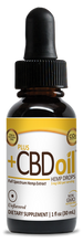 Load image into Gallery viewer, CBD Drops Unflavored 250mg - 1oz by Plus CBD Oil