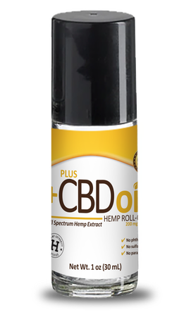 CBD Roll-On Gold Formula 200mg - 1oz by Plus CBD Oil