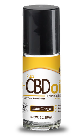 CBD Roll-On Gold Formula 500mg - 1oz by Plus CBD Oil
