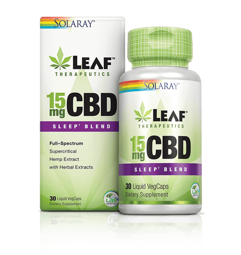 Leaf Therapeutics CBD Sleep Blend - 30 Count by Solaray