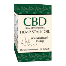 Load image into Gallery viewer, Smart Organics Hemp Stalk Oil Softgels 25mg - 30 Count