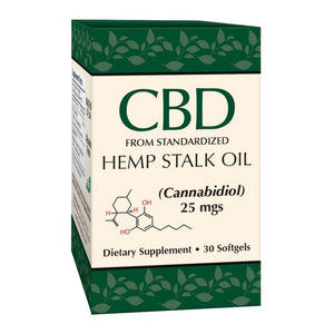 Smart Organics Hemp Stalk Oil Softgels 25mg - 30 Count