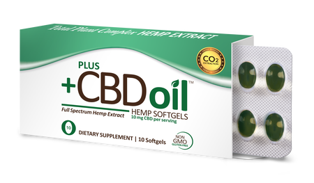 CBD Softgels Total Plant Complex Formula 10mg - 10 Count by Plus CBD Oil