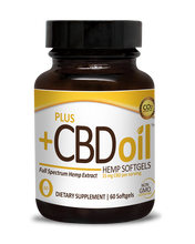 Load image into Gallery viewer, CBD Softgels Gold formula 15mg - 60 Count by Plus CBD Oil