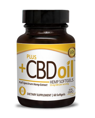 CBD Softgels Gold formula 15mg - 60 Count by Plus CBD Oil