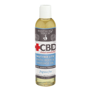 Soothing Touch CBD Nut Free Lite Bath & Body Oil 100 mg - 8 Oz