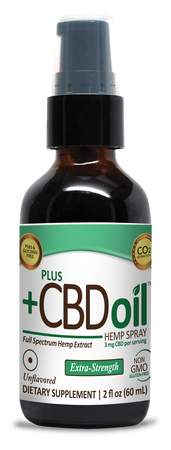 CBD Spray 500mg Unflavored - 1 Oz by Plus CBD Oil