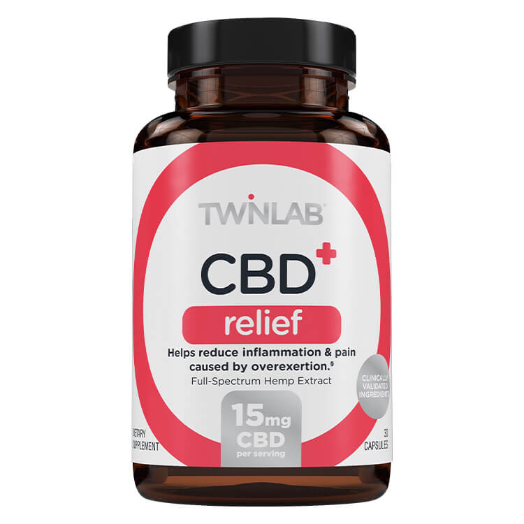 CBD+ Relief - 30 Count by Twinlab