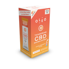 Load image into Gallery viewer, Tangerine CBD Drink Mix - 6 Packets by Oleo