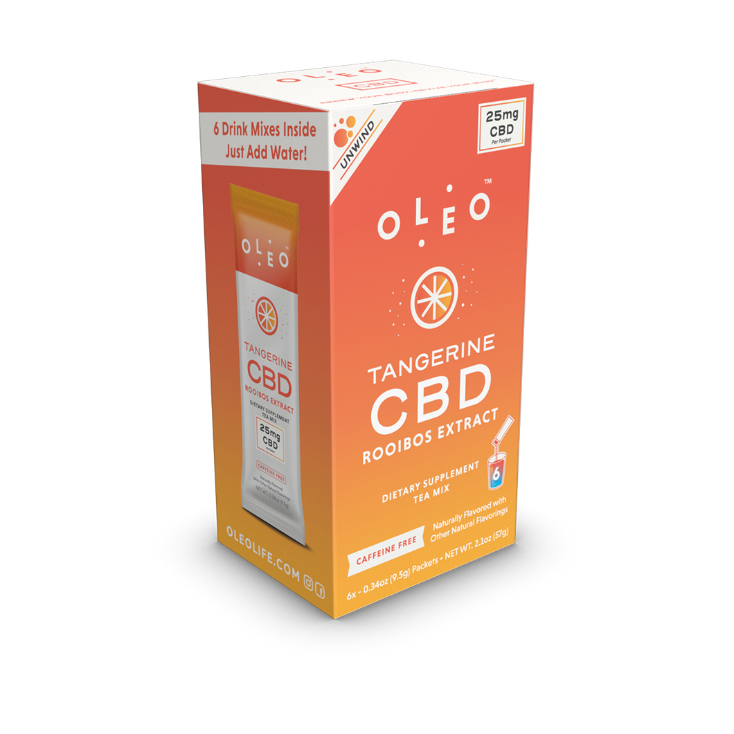 Tangerine CBD Drink Mix - 6 Packets by Oleo