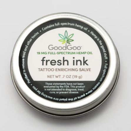Hemp Skin Salve Fresh Ink Tattoo Enriching - 0.7 Oz by Green Goo