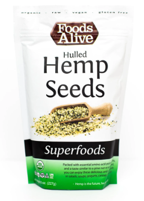 Hulled Hemp Seeds - Organic 8 Oz by Foods Alive