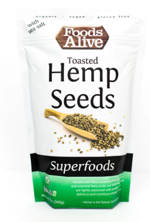 Toasted Hemp Seeds Organic - 12 Oz by Foods Alive