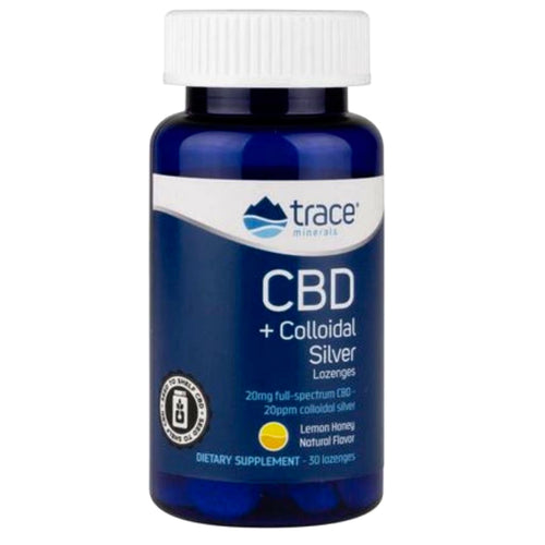 Trace Minerals CBD + Colloidal Silver Lemon Honey 30 Lozenges