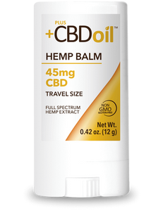 CBD Balm Travel Size Gold Formula 45mg - 0.42 Oz by Plus CBD Oil