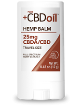 Load image into Gallery viewer, CBD Balm Travel Size 25mg - 0.42 Oz by Plus CBD Oil