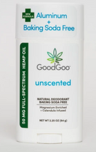Load image into Gallery viewer, Hemp Deodorant Unscented - 2.25 Oz by Good Goo