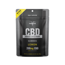 Load image into Gallery viewer, Broad Spectrum CBD Gummies 200mg Lemon - 10 Count by Ignite CBD