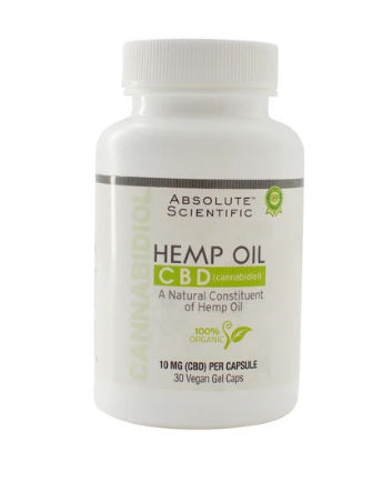 Hemp Oil Caps - 30 Vegan Gel Capsules by Absolute Nutrition
