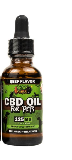 Pets CBD Oil Beef - 1 Oz by Hemp Bombs