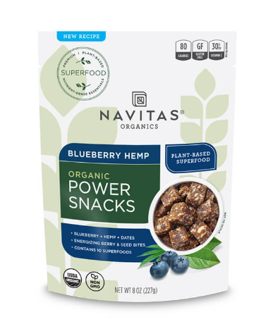 Organic Power Snacks Blueberry Hemp - 8 Oz by Navitas Organics