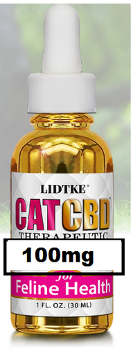 Full Spectrum CBD Oil for Cat 100mg - 1 Oz by Lidtke