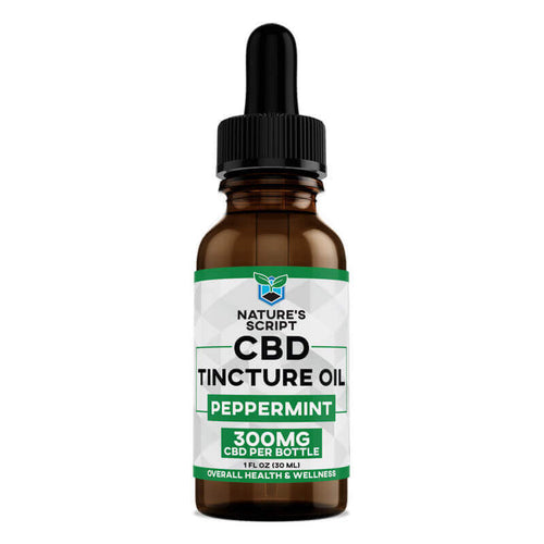 CBD Oil 300mg Peppermint - 1 Oz by Nature's Script
