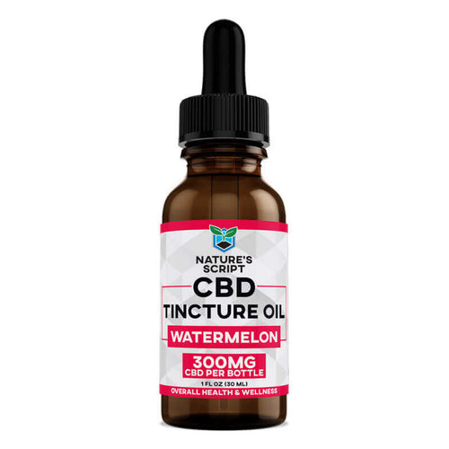CBD Oil 300mg Watermelon - 1 Oz by Nature's Script