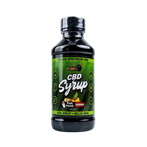 CBD Syrup Fruit Punch 300mg - 4 Oz by Hemp Bombs
