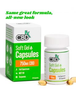 CBD Gel Capsules each with MCT oil 25mg - 30 Softgels by CBDfx