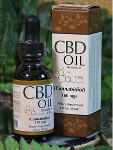CBD Hemp Oil 160 mg - 1 Oz by Smart Organics