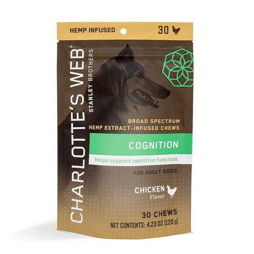 Cognition Hemp Infused Dog Chews (Chicken flavor) - 30 Count by Charlotte's Web