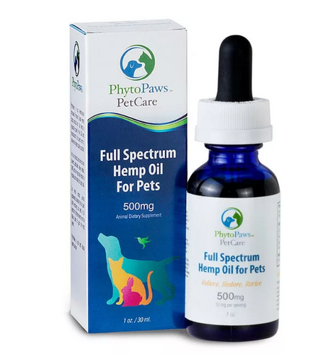 Full Spectrum Hemp Oil 500mg - 30 ml by Phytopaws