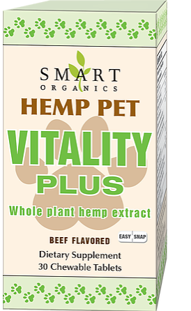 Hemp Pet Vitality Plus Easy Snap Tablets - 30 Chews by Smart Organics
