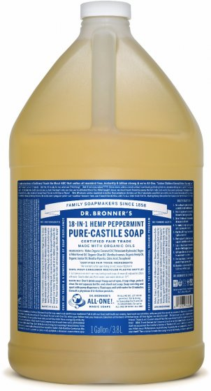 Pure-Castile Liquid Soap Peppermint - 128 Oz by Dr Bronner's