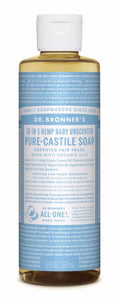 Pure Castile Liquid Soap Baby Unscented - 8 Oz by Dr Bronner's