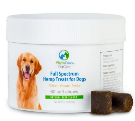 Hemp Treats For Dogs Natural Beef Flavor 60 Softgels by Phytopaws