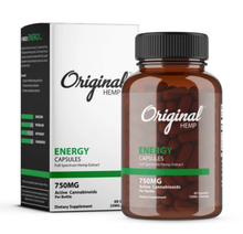 Load image into Gallery viewer, Energy Capsules (750mg) | Full Spectrum Hemp Extract - 60 Caps by Original Hemp