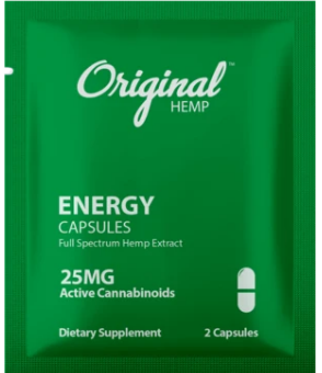 Energy Capsules (25mg) | Daily Dose - by Original Hemp
