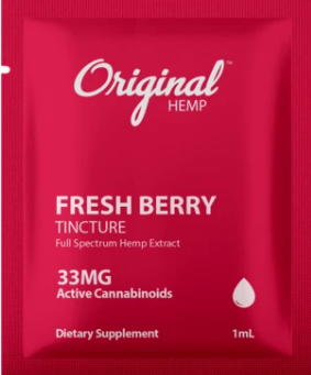 Hemp Extract Fresh Berry Tincture (33mg) | Daily Dose - 1 ml by Original Hemp