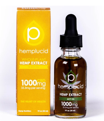 Full-Spectrum CBD in MCT Oil Tincture 1000mg - 1 Oz by Hemplucid