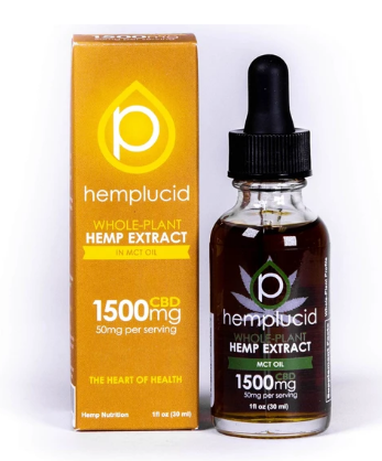 Full-Spectrum CBD in MCT Oil Tincture 1500mg - 1 Oz by Hemplucid