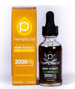 Full-Spectrum CBD in MCT Oil Tincture 2000mg - 1 Oz by Hemplucid