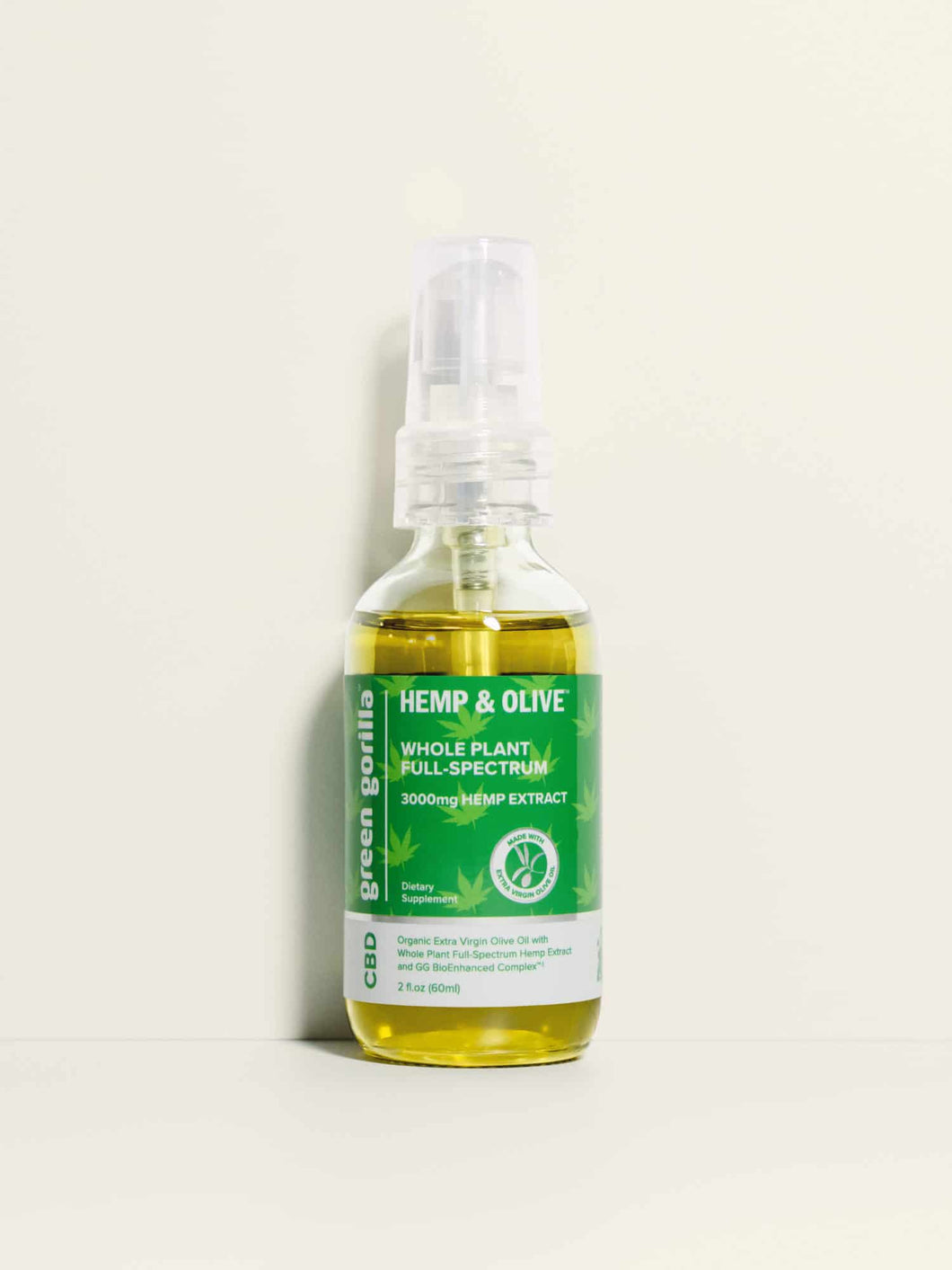 Organic Organic Full Spectrum CBD Oil 3000mg - 2 oz
