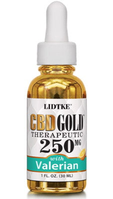 Full Spectrum CBD Gold oil with Valerian 250mg -1 Oz by Lidtke
