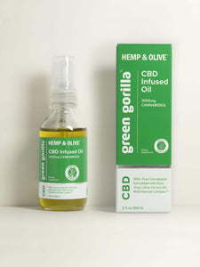 Certified Organic Pure CBD Oil 3000 mg - 2 oz