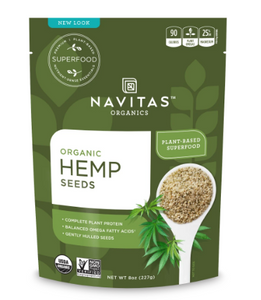 Organic Hemp Seeds Hulled Unflavor - 8 Oz by Navitas Organics