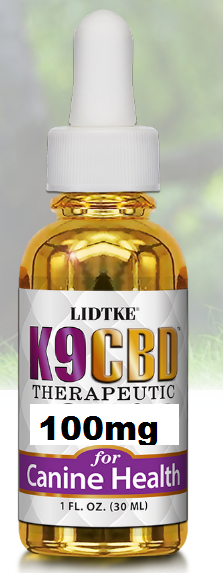 Full Spectrum K9 CBD Drops for Dog 100mg - 1 Oz by Lidtke