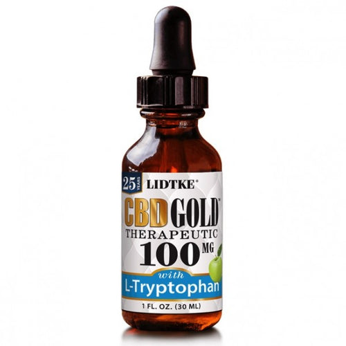 Full Spectrum CBD Gold oil with L-Tryptophan 100mg -1 Oz by Lidtke